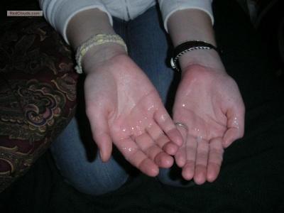 Sperm In Her Hand