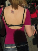 Bra Voyeurism: a rear shot