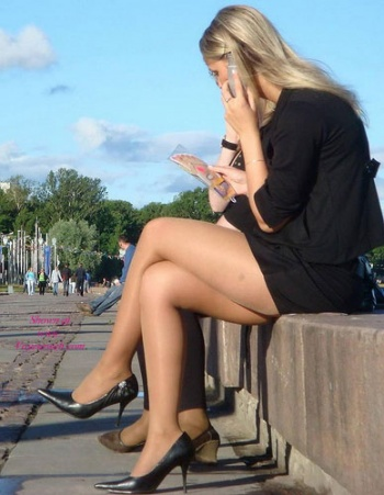 Hot legs candid street pantyhose upskirt getting old......what