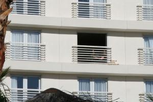 Masturbate hotel balcony