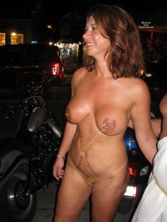 Women Main street naked